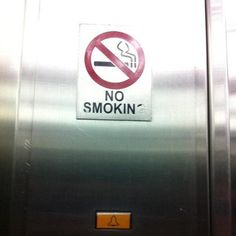 Ya guys! No Smokin' puhleaze!