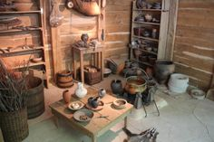 Reconstruction of celtic house, the kitchen