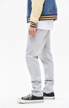 Pacsun Slim Fit Basic Grey Chino Pants - 34W X 32L Gray Grey Chinos 7e0f21a8fc2e