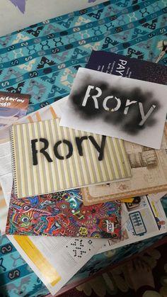 Rory kramer's name with spray