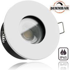 10er LED Einbaustrahler Set EXTRA FLACH 6W DIMMBAR Ra > 90-60° Abstrahlwinkel 35mm 35W Ersatz schwenkbar COB LE 2.700 Kelvin warmweiss in Schwarz mit LED Markenleuchtmittel von LEDANDO