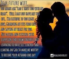 #DearWoman #DearFutureWife #Proverbs31Woman #VirtuousWoman #forever #loveneverfails #loveneverdies #heart #wisdom #reallove #truelove #godoverporn #nofap #rehabtime #intimacy #tonygaskins #God #bible #scripture #godlywisdom #godlywoman #GodlyMen #RealMenMovement #proverbs #Jesuschrist