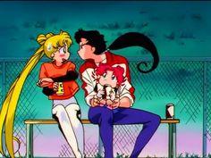 Usagi, Seiya, and Chibi Chibi Arte Sailor Moon, Sailor Moon Stars, Sailor Moon Usagi, Sailor Uranus, Sailor Moon Crystal, Sailor Saturno, Sailor Moon Screencaps, Sailer Moon, Sailor Moon Aesthetic