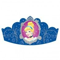 Cinderella Paper Tiaras - Party Hats and Individual Party Supplies Cinderella Party Supplies, Cinderella Birthday, Cinderella Disney, Kids Party Supplies, Disney Princess, Princess Crowns, Disney Birthday, Princess Birthday, Disney Balloons