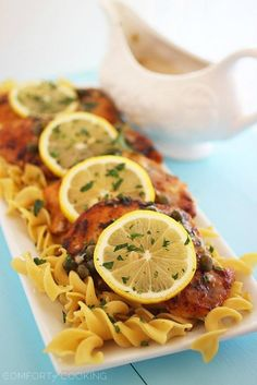 "<p>Recipe here:  <strong><a href=""http://www.thecomfortofcooking.com/2014/02/skinny-lemon-chicken-piccata.html"" target=""_blank"">SKINNY LEMON CHICKEN PICCATA</a></strong></p>"