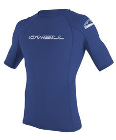 78ee48fada O Neill Wetsuits Basic Skins Short Sleeve Crew Rash Guard Shirt - http