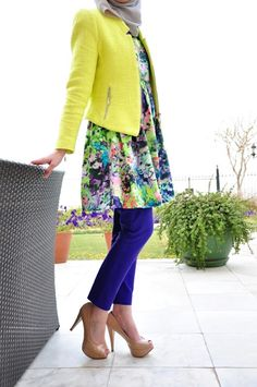 Zara yellow jacket in Meblogging style