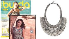 Burda Style Magazine featuring the Collier Pegasus - Argent by Stella & Dot