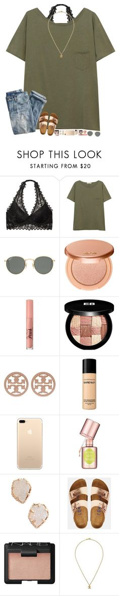happy st. paddys day! by hopemarlee ? liked on Polyvore featuring Victorias Secret, rag bone/JEAN, Ray-Ban, J.Crew, tarte, Too Faced Cosmetics, Edward Bess, Tory Burch, Bare Escentuals and Benefit