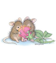 Stampibilities House Mouse Rubber Stamp - Fragrant Friendship