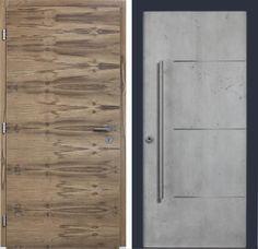 Neue Haustüren von Kneer-Südfenster: von Massivholz bis zur Struktur-Beton-Optik