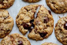 Food - Recipes and Entertaining - A Cup of Jo Mrs Fields Cookies, Mrs Fields Chocolate Chip Cookies, Chocolate Peanut Butter Cookies, Mint Chocolate Chips, Mrs Fields Cookie Recipe, Cookie Recipes, Dessert Recipes, Desserts, Best Oatmeal Cookies