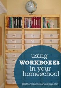 Using Workboxes in Your #Homeschool from @HSConvention #sponsor