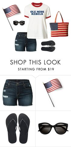 """July 4th at Ole Miss"" by bncollege on Polyvore featuring LE3NO, Grandin Road, Havaianas and Scully"