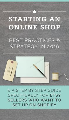 Are you selling your product in person or on Etsy and thinking about setting up your own ecommerce shop? Or maybe you're ready to start a business, but haven't taken the steps to set up an online presence yet. Let's talk about how to get started, and make sure you're putting your best foot forward online…