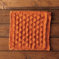 For my newest dishcloth pattern, I used a knit and purl combination to create the neat effect of an image of a chain link fence - the Chain Link Dishcloth.
