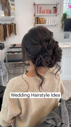 Hairdo Wedding, Long Hair Wedding Styles, Bridal Hair Updo, Braided Hairstyles For Wedding, Wedding Hair And Makeup, Bride Hairstyles, Long Hair Styles, Hairstyles For Weddings Bridesmaid, Hairstyles For Long Hair Wedding