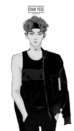 Chanyeol Fanart exo this fan art is like. omg chanyeol look so good lol