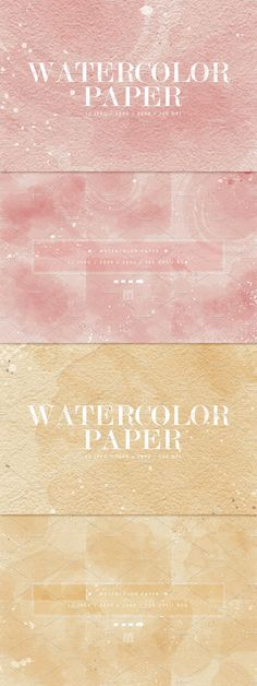 12 Watercolor Papers - Part 2 by OrangeFox on @creativemarket  #watercolor #texture  #digital #paper  #background #hand #painted #dirty #stained #grungy #scrapbook #card  #brush #painted #abstract #yellow #white  #pink   #creativemarket #graphic #wallpaper