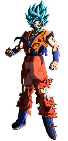 Goku Super Saiyan Blue Beard Mixed Gi by aashan