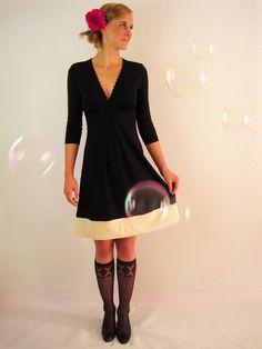 Gemma Kleid schwarz-creme von Mirastern auf DaWanda.com