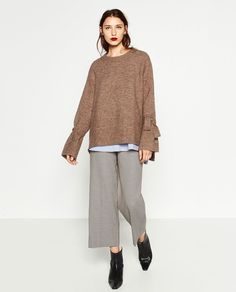 Zara Sweater with Detail on Sleeve, $49.90
