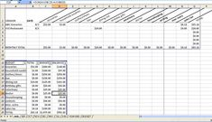 A household budgeting template for Excel.