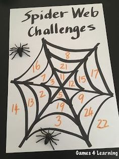 These are perfect for Halloween math! 2 different challenges to do with this easy to make chart!