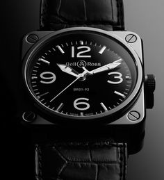 Black on Black. Bell & Ross Men's Watch. #orangecounty