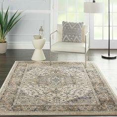 World Menagerie Sashi Gray/Beige/Cream Area Rug , Cream Area Rug, Beige Area Rugs, Farmhouse Area Rugs, Cheap Rugs, Orange Area Rug, Buy Rugs, Entryway Rug, Home Rugs, Traditional Rugs