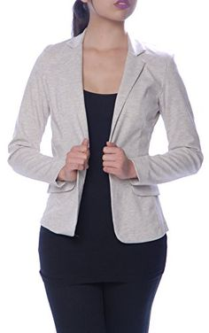 Lucky 21 Women's Basic Fitted One Button Blazer Jacket Small Oatmeal Lucky 21 http://www.amazon.com/dp/B00X6APQ1E/ref=cm_sw_r_pi_dp_XpIVvb10F6HX5