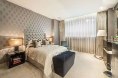 #Modern, #warm #bedroom in #Knightsbridge