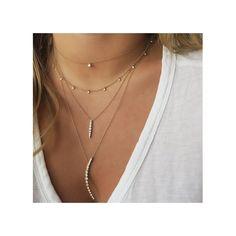14k 11 dangling diamonds necklace