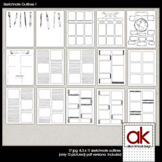 Free Sketch Note Printables from Allison Kimball Designs