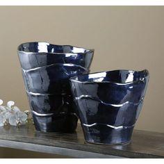 Interlude Home Valles Wrap black pearl Vases