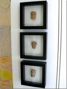 Champagne corks from special events in your life framed