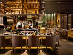resturants, hotel design, all day dining, show kitchen, bars , front of house design