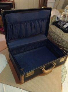 my vintage suitcase before refurbish. Vintage Suitcases, Trunks, Drift Wood, Tree Trunks