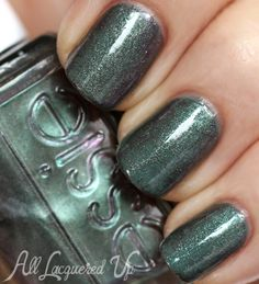 """Saran Wrap Manicure - Essie Fall 2013 """"For The Twill of It"""" + """"Vested Interest"""""""