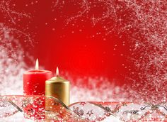 christmas scenes pictures | Free Christmas Wallpapers: Christmas Candles Wallpapers