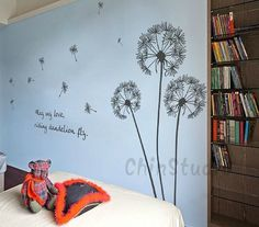 Dandelion Blowing in the windDandelions Walll Decal by ChinStudio, $35.00