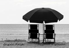 Who doesn't want the beach, sand and a chair to relax and forget the day. A couple of chairs in the sand and you have a day of beach relaxation for two. If you are looking for more beach décor visit the DSGgallery at our Etsy shop at this link: https://www.etsy.com/shop/DSGgallery