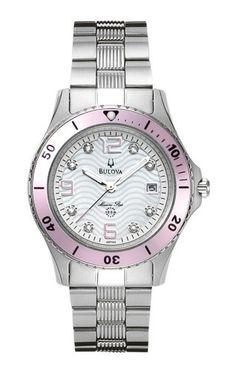Bulova Woman's 98P005 Marine Star Calendar Watch * Want additional info? Click on the image.