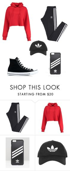 """Untitled #149"" by mmyost ❤ liked on Polyvore featuring adidas, Boohoo, adidas Originals, Topshop and Converse"