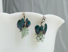 Beautiful handmade vintage grapevine enamel on by CrowRidgeStudios, $130.00