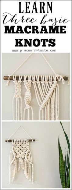 From macrame plant hangers to wall hangings, tap into your crafty side with one of these 11 Best DIY Macrame Crafts. From macrame plant hangers to wall hangings, tap into your crafty side with one of these 11 Best DIY Macrame Crafts. Macrame Art, Macrame Projects, Macrame Knots, Craft Projects, Macrame Wall Hangings, Macrame Wall Hanging Diy, Macrame Plant Hanger Diy, How To Macrame, Macrame Square Knot