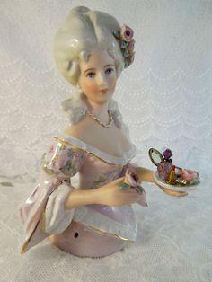 Victorian  Half Doll pincushion   Serenity
