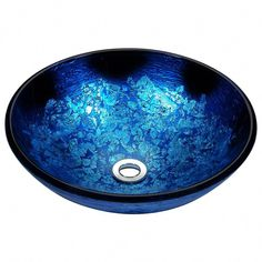 ANZZI Stellar Blue Blaze Tempered Glass Vessel Round Bathroom Sink (Drain Included) at Lowe's. The ANZZI Stellar Series sink is a traditionally crafted round vessel sink adorned in a blue blaze finish. Each ANZZI vessel sink if formed using RHINO Deco Glass, Blue Blaze, Art Nouveau, Bathroom Sink Drain, Pool Bathroom, Bathroom Flooring, Modern Bathroom, Master Bathroom, His And Hers Sinks