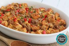 Cheddar Beer Bread and Jones Sausage Stuffing