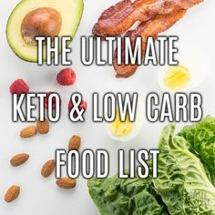 This Ultimate Keto Food List is the only one you'll ever need! It's organized into categories, and you can filter and sort. A Low Carb Food List Printable PDF version is also available.